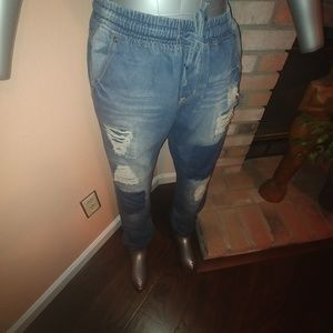 American Bazi Pants - Plus Size Denim Distressed Jeans